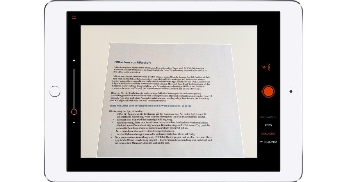 Office Lens Kostenlos Von Microsoft Dokumente