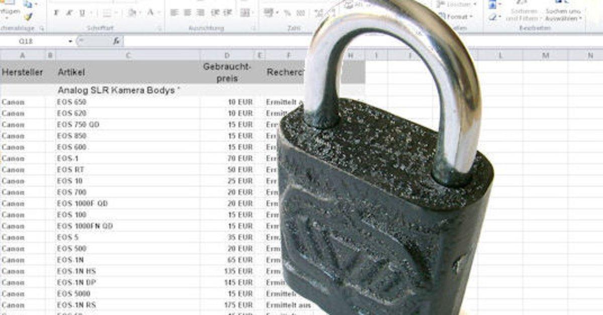Excel Arbeitsblatt Blattschutz Aufheben : Den excel blattschutz aufheben und das passwort löschen