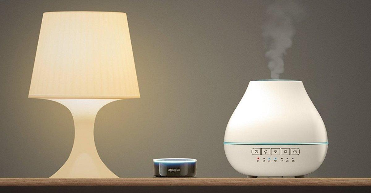 duft aus dem high tech aroma diffuser ein wohlriechender. Black Bedroom Furniture Sets. Home Design Ideas