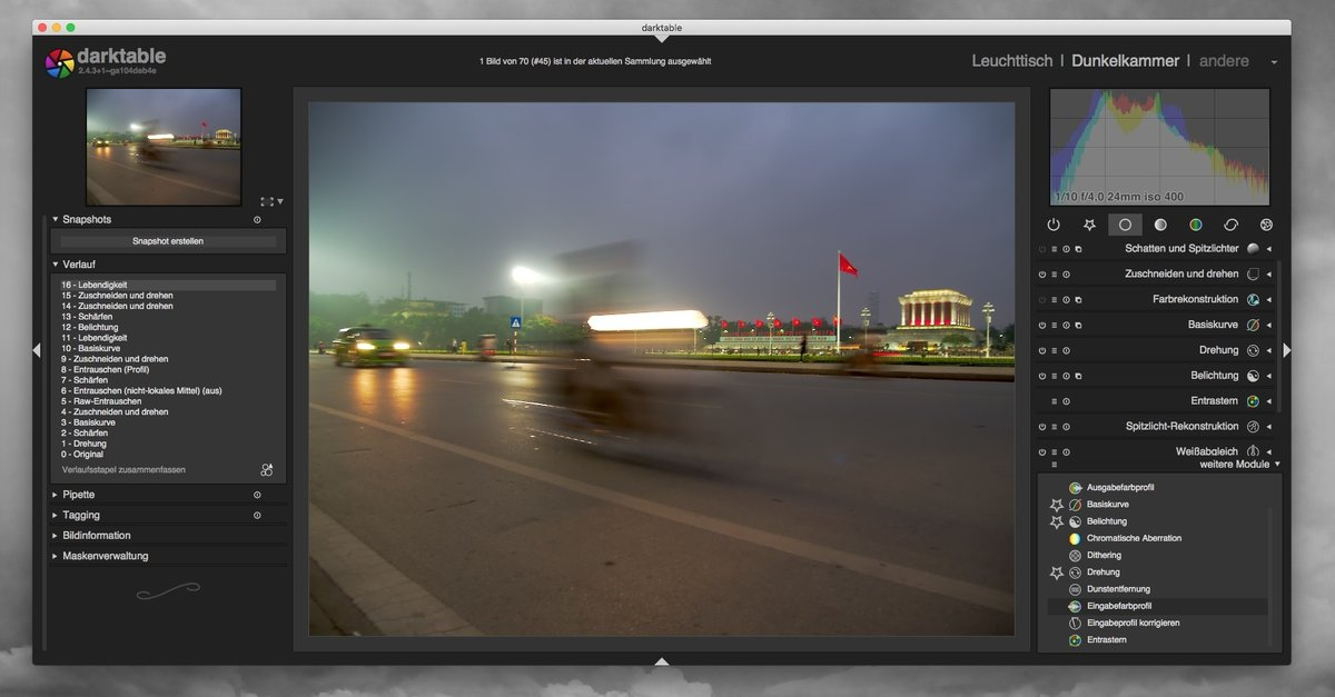 Kostenlose Photoshop-Lightroom-Alternative: darktable im Test