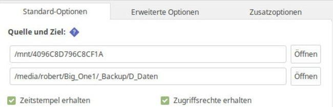 Grsync-Backup erstellen (Anleitung)