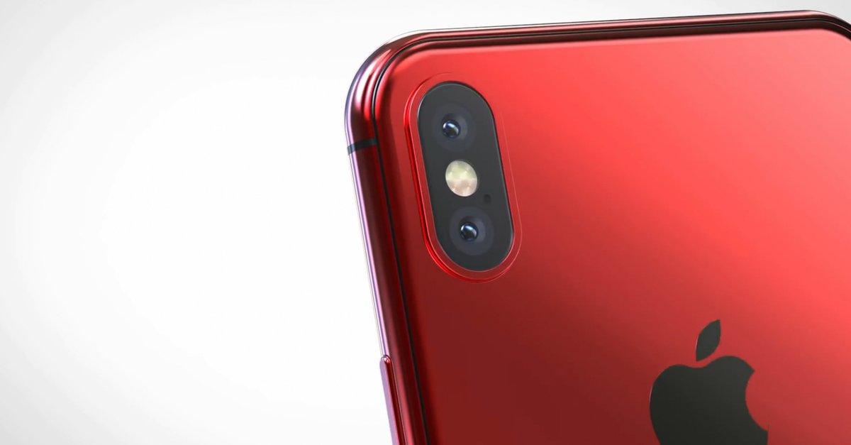 iphone x in rot so h tte das apple handy ausgesehen giga. Black Bedroom Furniture Sets. Home Design Ideas