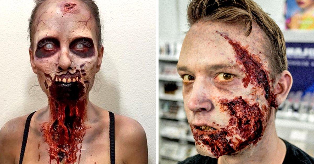 Zombie Schminken Halloween Make Up Einfach Schnell Selber Machen
