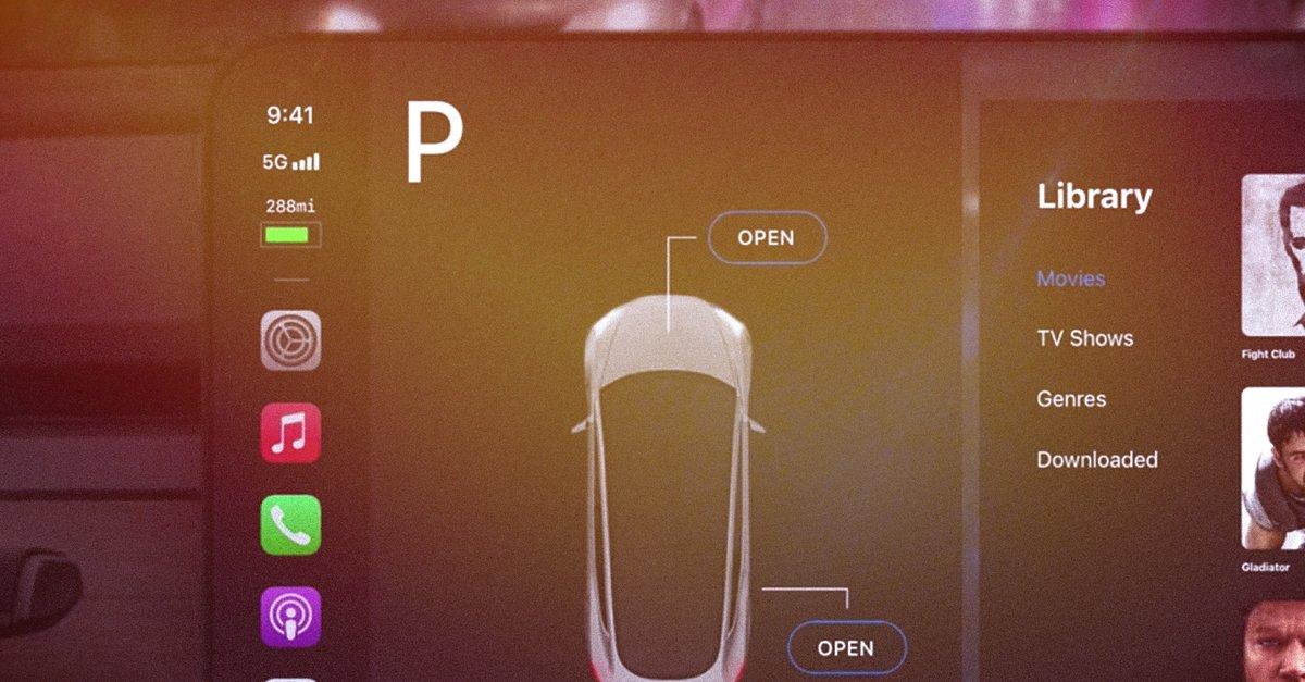 Apple Car bekommt ein Cockpit: Entwurf begeistert schon jetzt