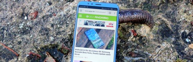 Honor View 10 in Bildern: Blauer Smartphone-Traum mit Design-Makel