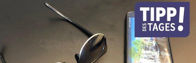 Der Smartphone-Trick mit der Sonnenbrille