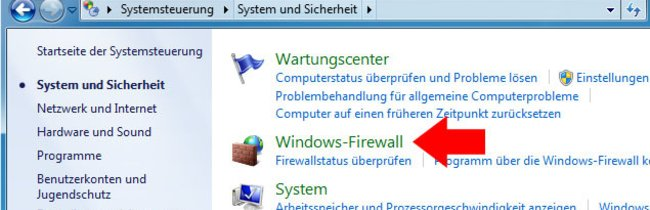 Windows 7 & 8: Windows Firewall deaktivieren