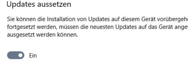 Windows-10-Updates für 35 Tage aussetzen
