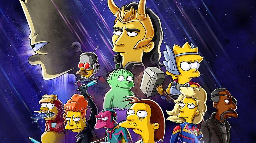 """""""Die Simpsons"""" werden zu Marvel-Helden: Springfield-Special zu """"Loki"""" kommt"""