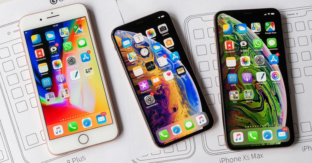 iPhone-Größenvergleich: PDF zum Ausdrucken herunterladen