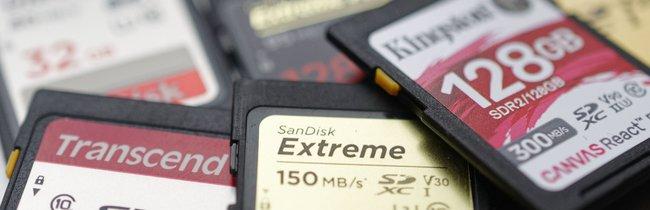 SD-Karten im Geschwindigkeitsvergleich – mit SanDisk, Kingston und Transcend