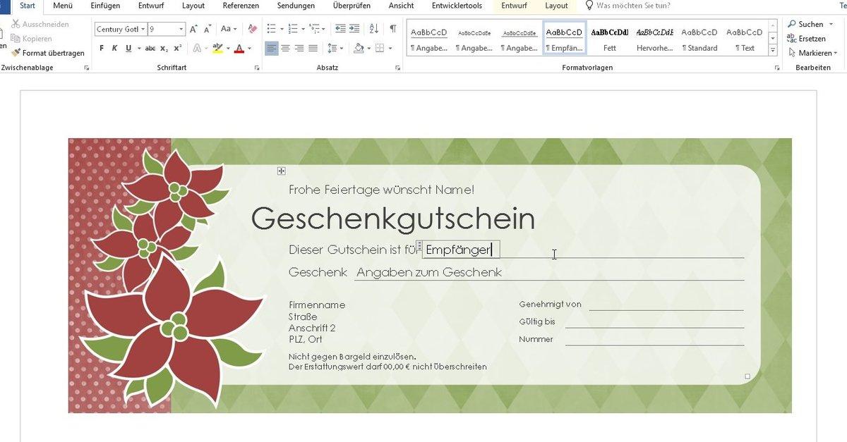 Spektakular Word Vorlage Weihnachten Briefpapier 1